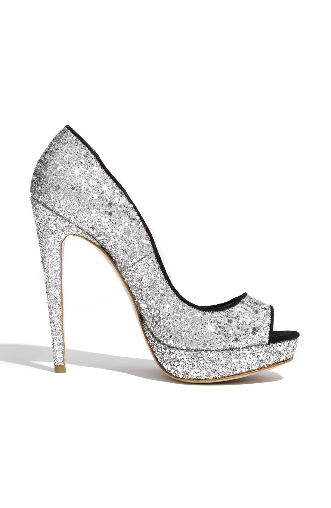 Alternate Image 2  - Miu Miu Glitter Open Toe Platform Pump