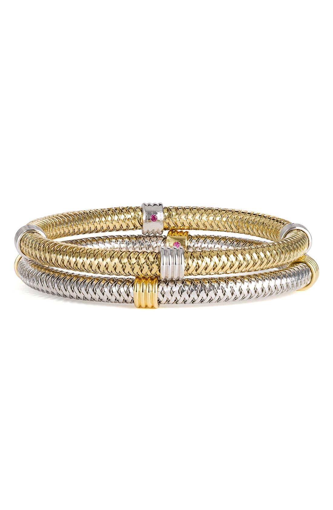 Alternate Image 1 Selected - Roberto Coin 'Primavera' Gold Stackable Bracelet