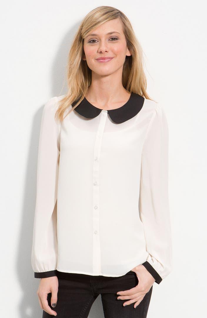Frenchi peter pan collar blouse juniors nordstrom for Peter pan shirt pattern