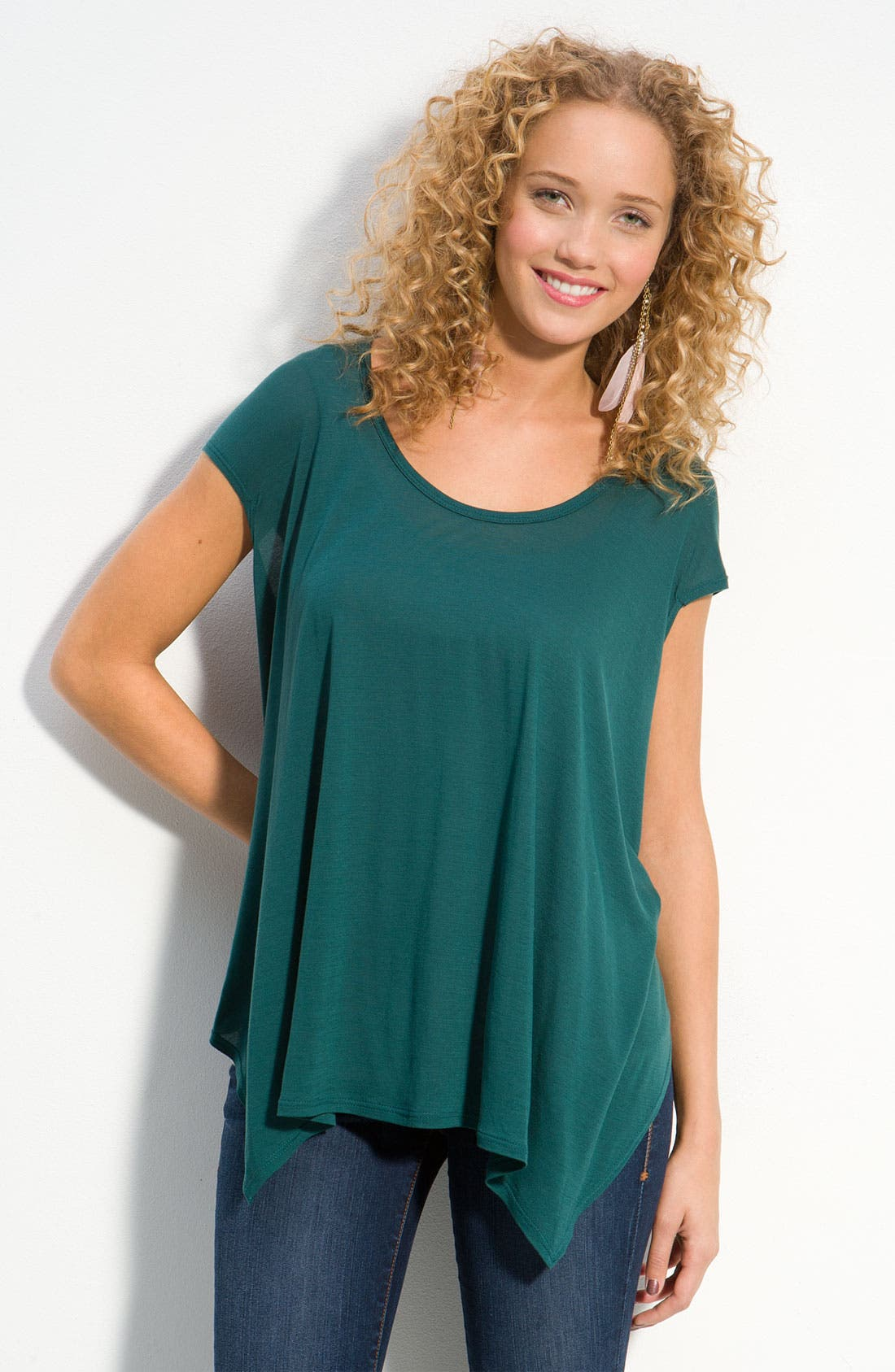 Alternate Image 1 Selected - Oversized Asymmetric Cape Tee