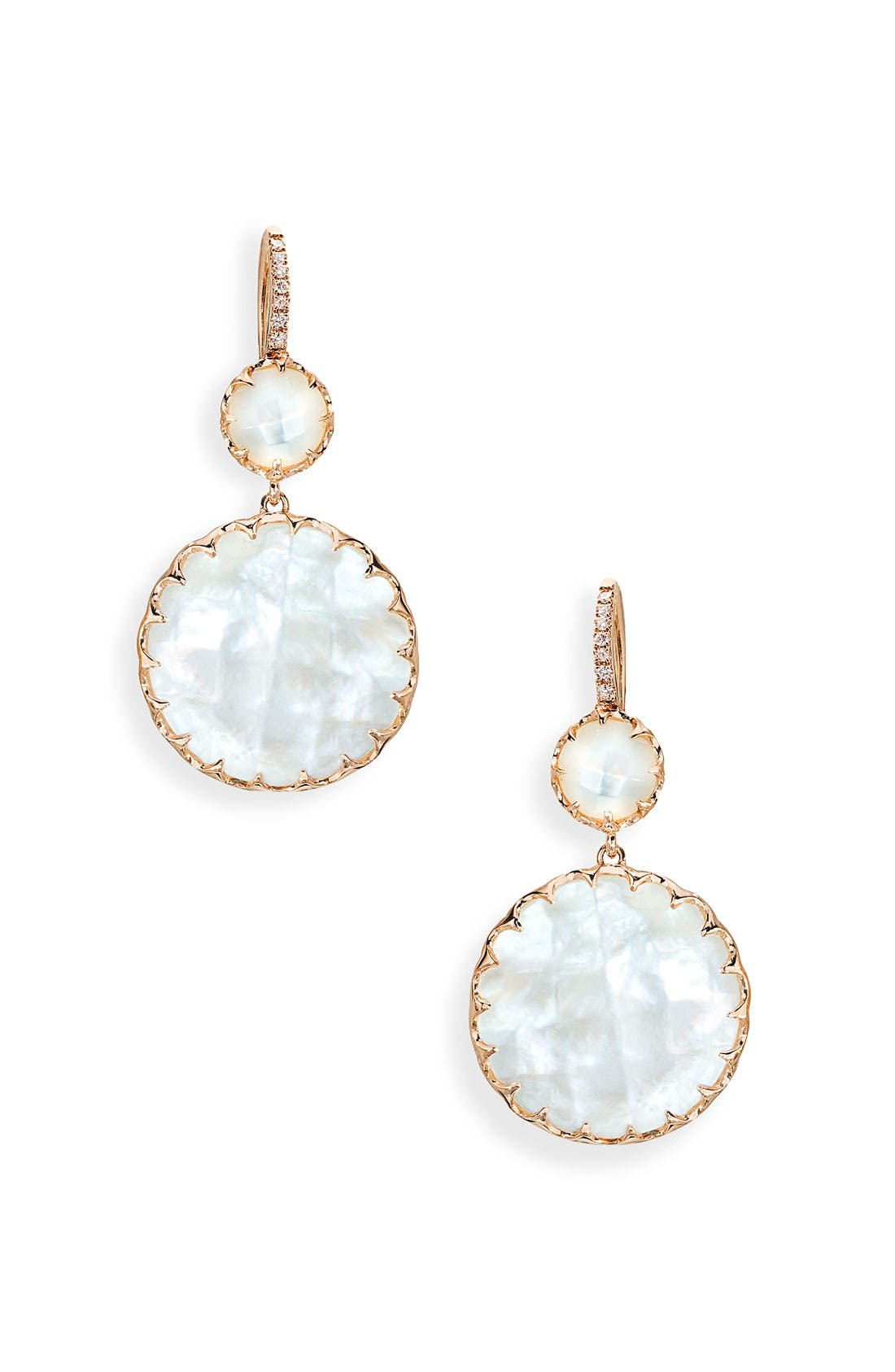 Alternate Image 1 Selected - Ivanka Trump 'Rose Gold' Stone & Diamond Earrings