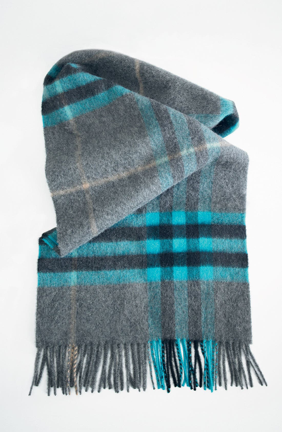 Alternate Image 2  - Burberry Check Print Cashmere Scarf