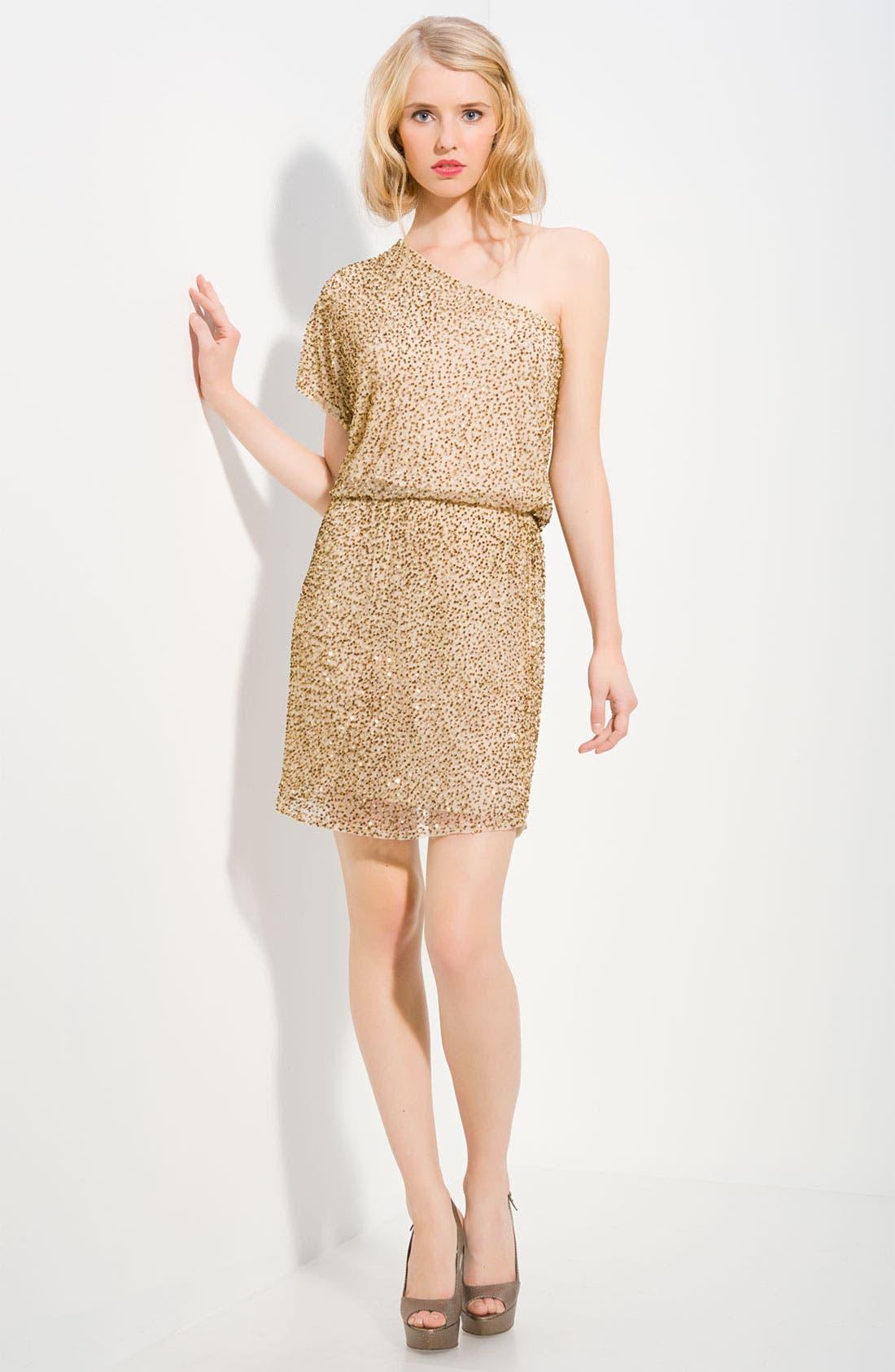 Main Image - Alice + Olivia Embellished One Shoulder Dress
