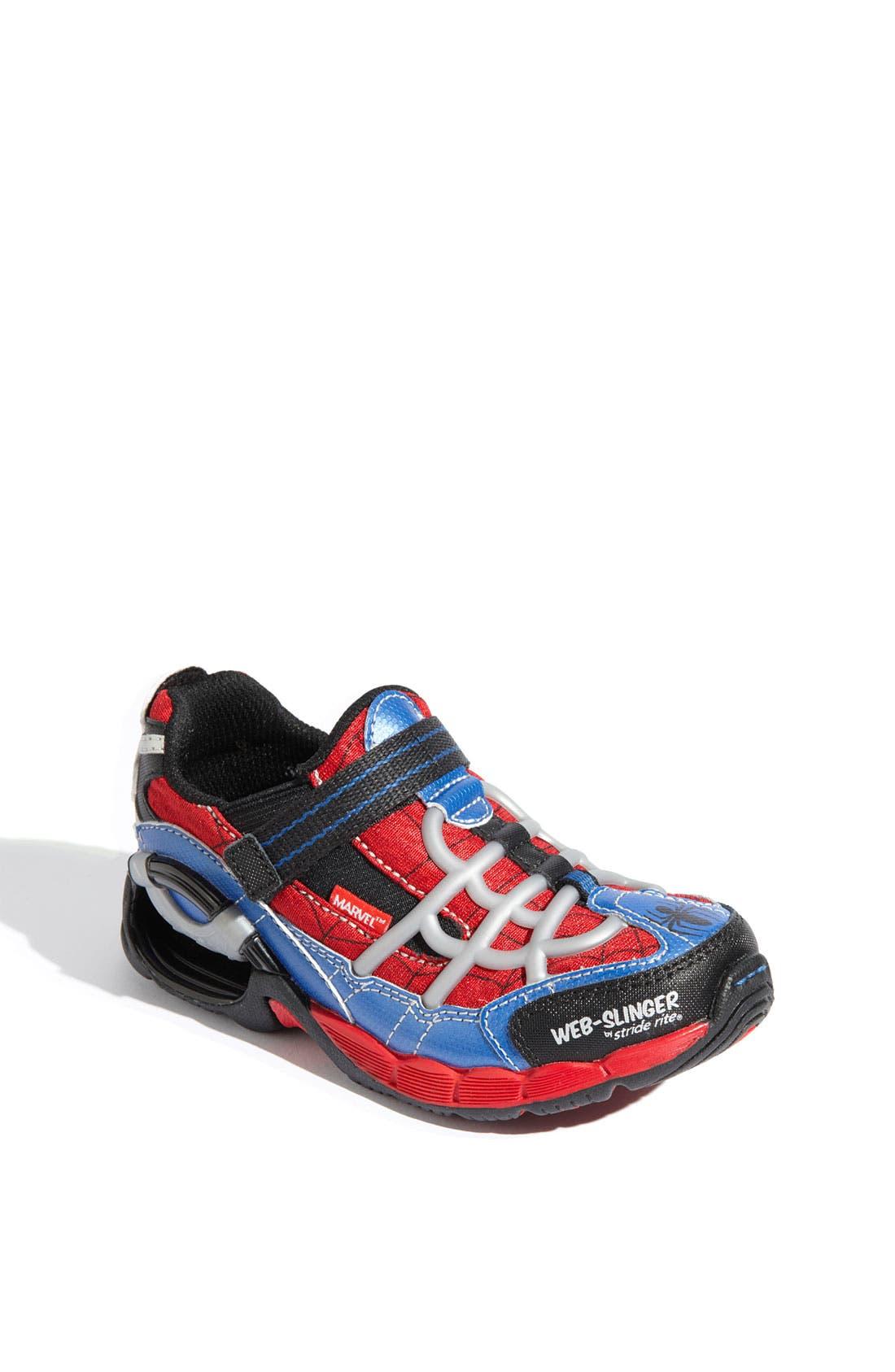 Alternate Image 1 Selected - Stride Rite 'Web Slinger' Sneaker (Toddler & Little Kid)
