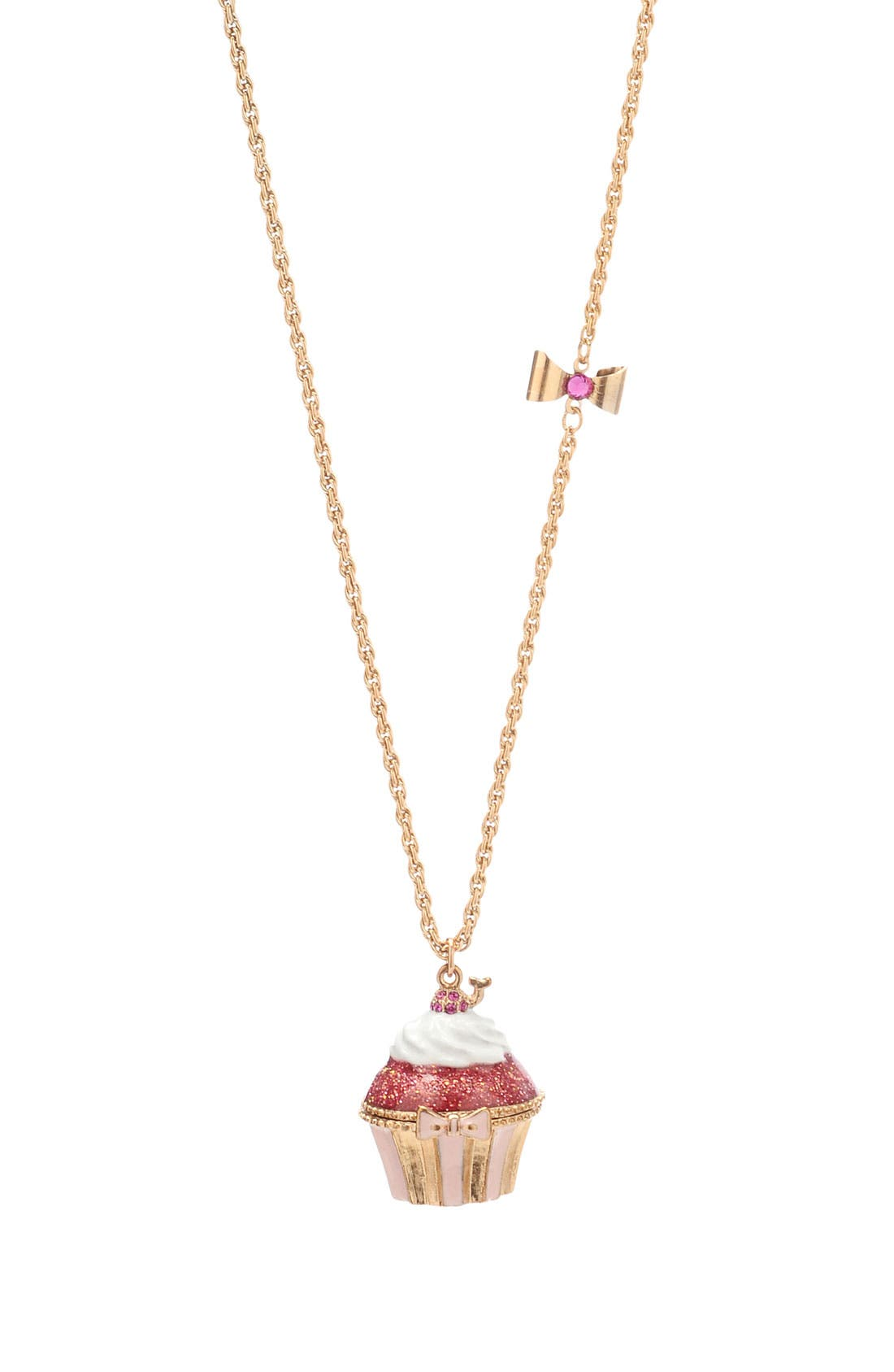 Alternate Image 1 Selected - Betsey Johnson 'Tzar' Cupcake Pendant Long Necklace