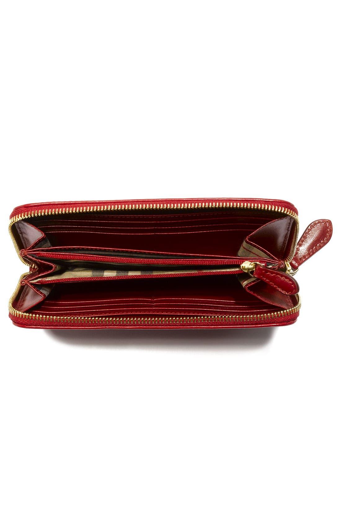 Alternate Image 3  - Burberry Zip Around Wallet