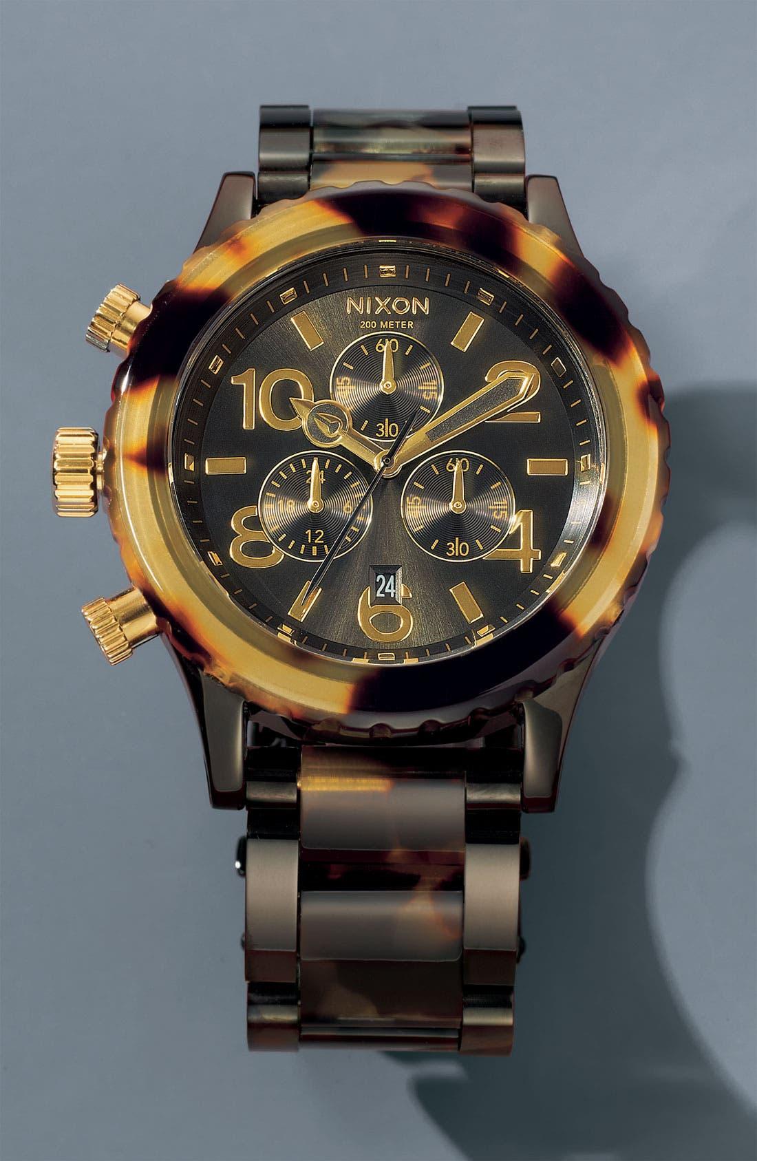 'The 42-20 Chrono' Watch, 42mm,                             Alternate thumbnail 4, color,                             Black/Tort