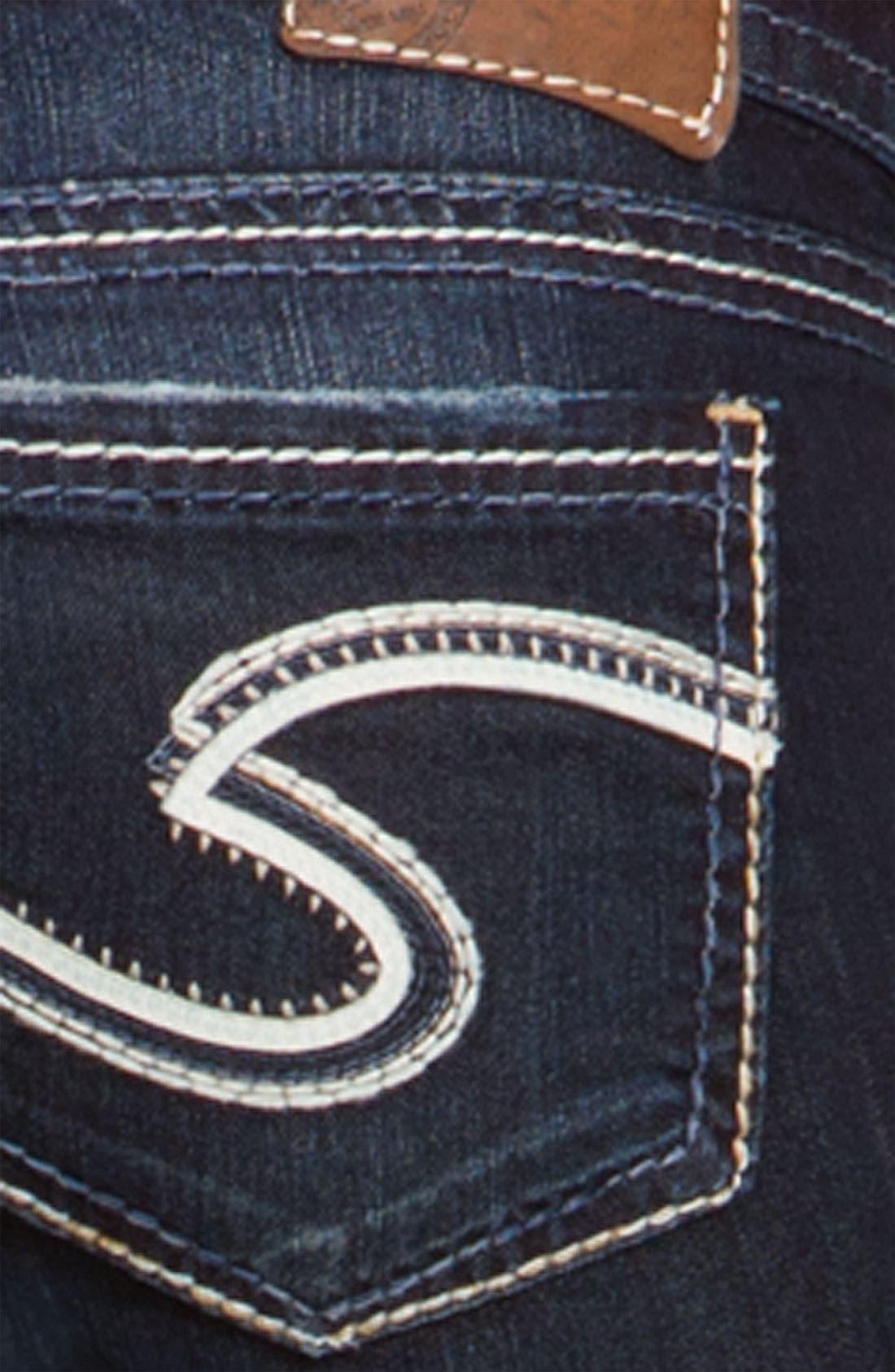 Alternate Image 4  - Silver Jeans Co. 'Frances' Bootcut Jeans (Indigo Wash) (Juniors Regular & Long)
