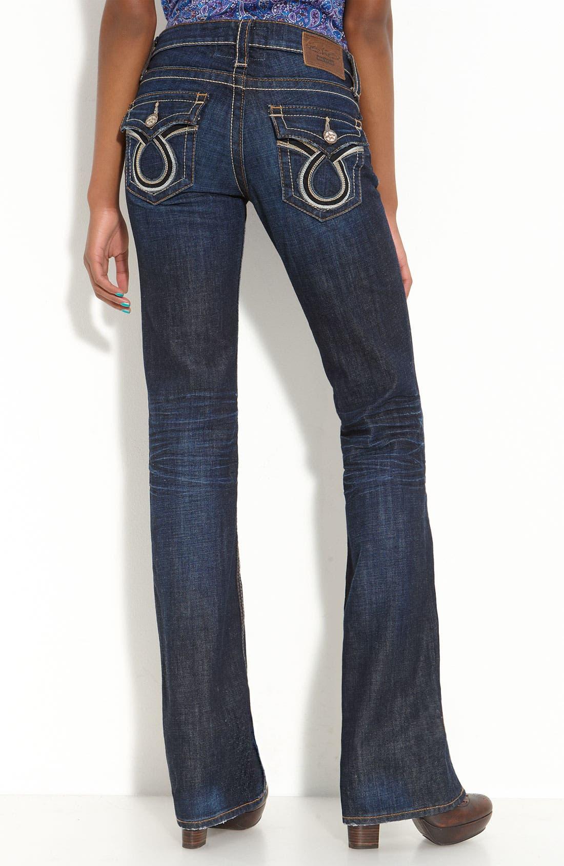 Alternate Image 2  - Big Star 'Liv' Flap Pocket Bootcut Jeans (Juniors Long)