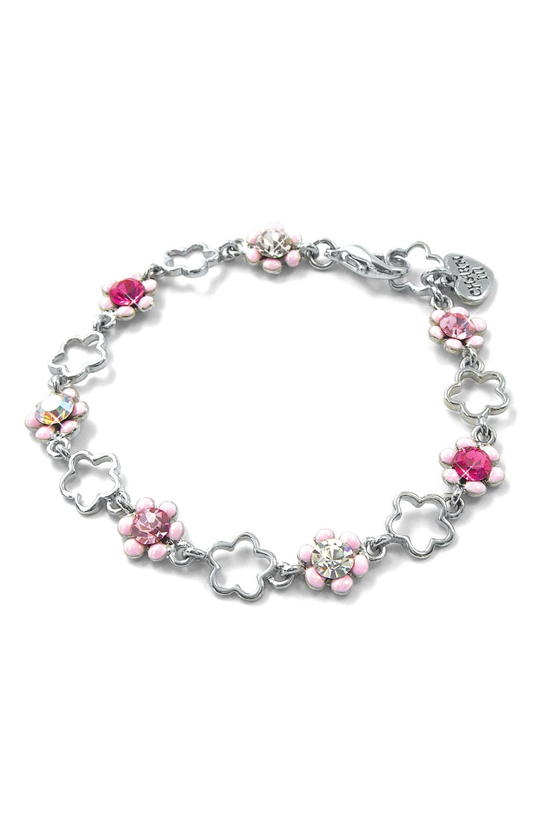 Alternate Image 1 Selected - CHARM IT!® Flower Charm Bracelet (Girls)