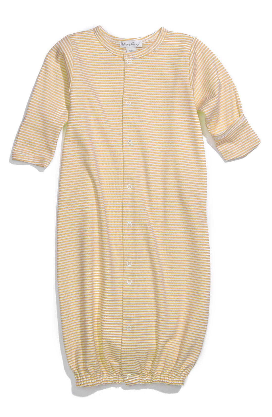 Alternate Image 1 Selected - Kissy Kissy Stripe Gown (Infant)