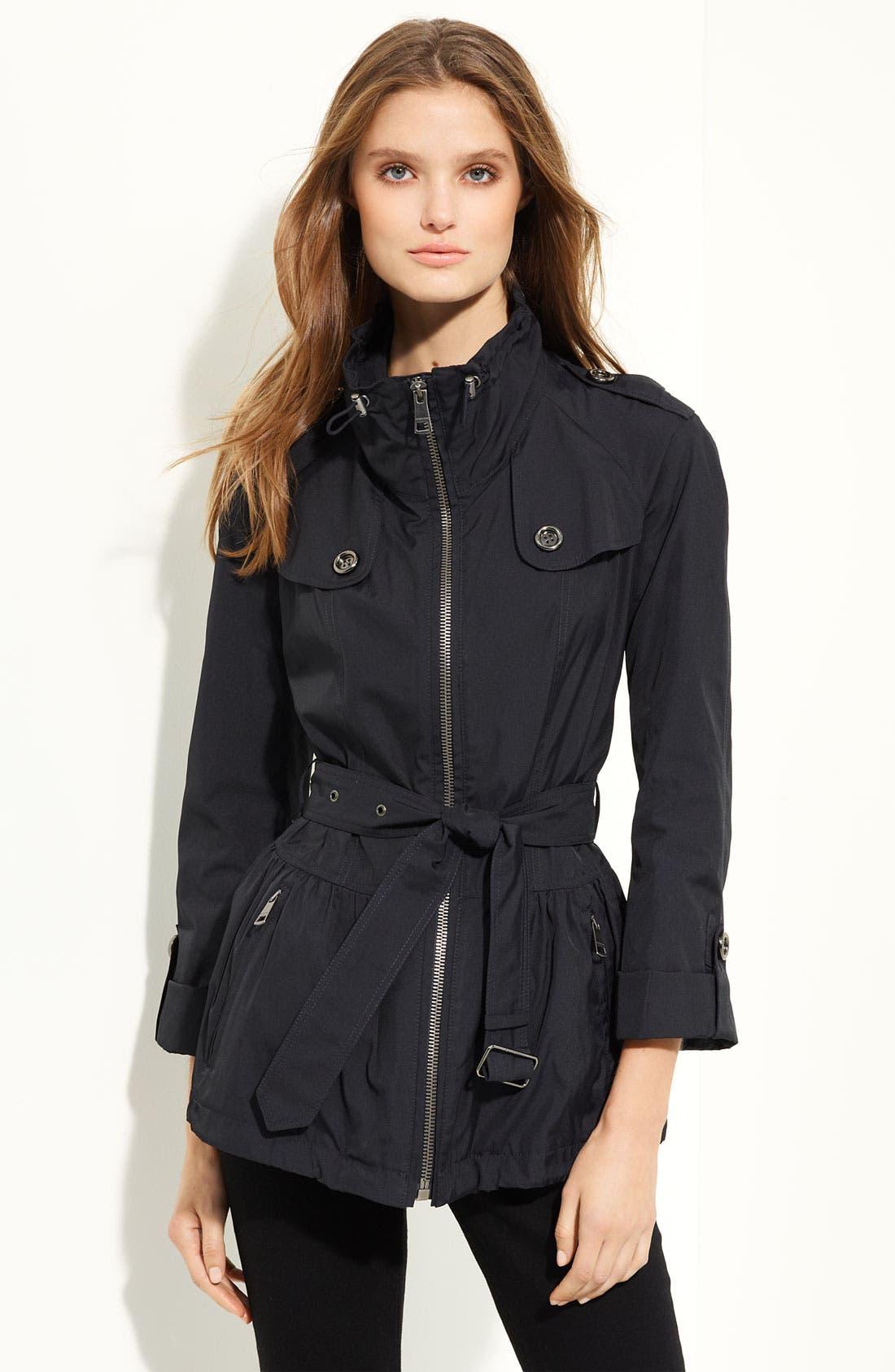 Alternate Image 1 Selected - Burberry London Belted Taffeta Jacket