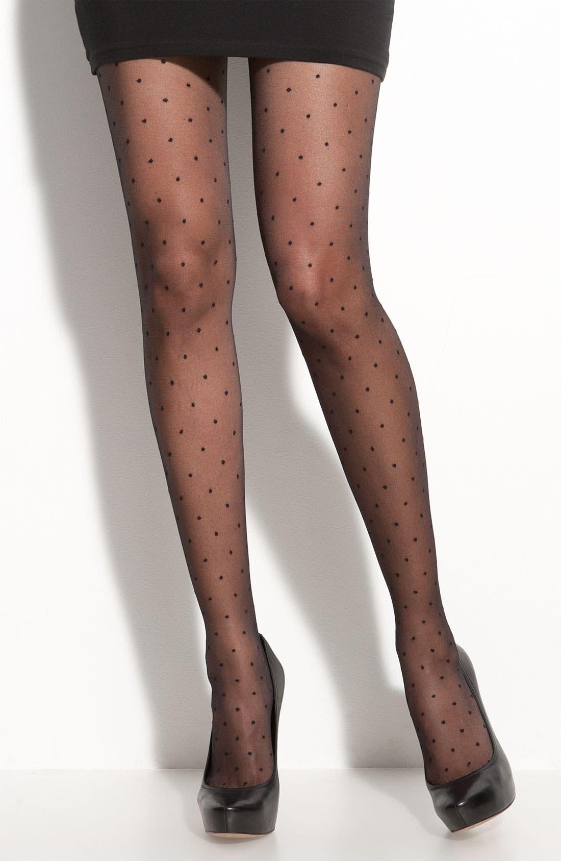 Alternate Image 1 Selected - Nordstrom 'Back Seam Dot' Stockings