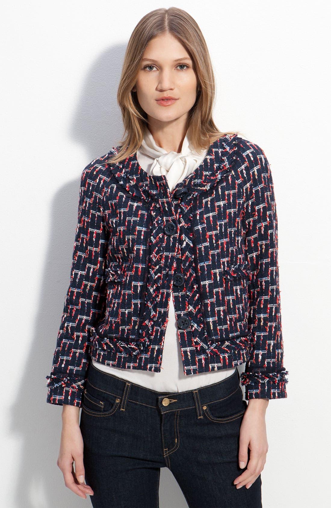 Main Image - kate spade new york 'darby' tweed jacket