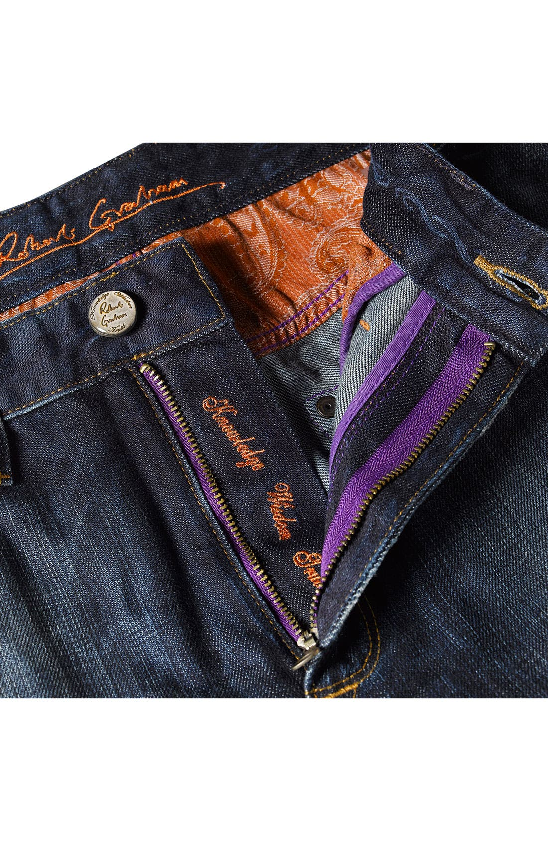 Alternate Image 6  - Robert Graham Jeans 'Yates' Classic Fit Jeans (Atlantic)