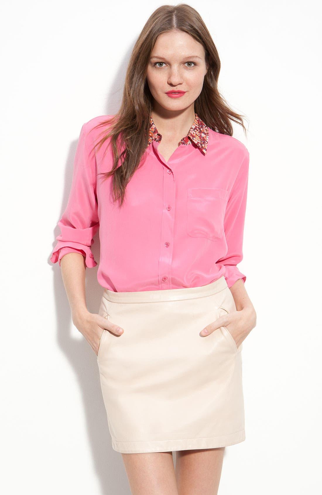 Main Image - Equipment Print Collar Silk Shirt