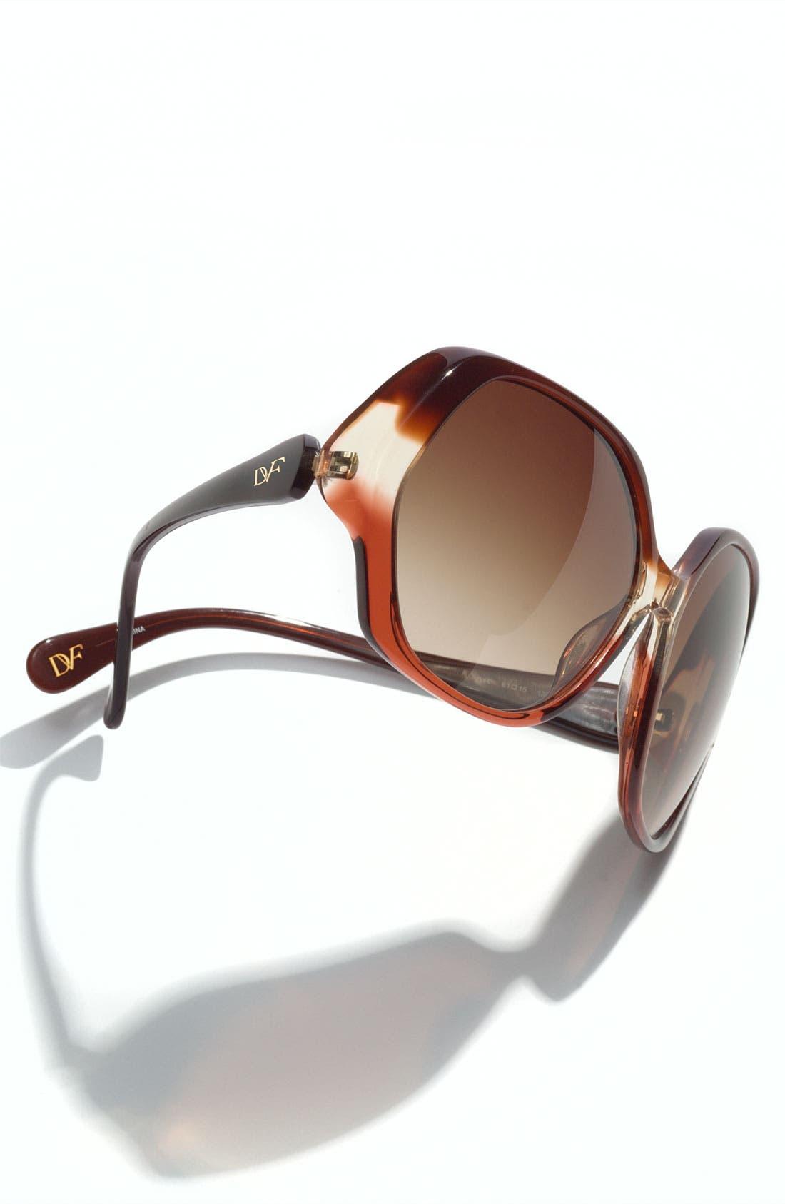 Alternate Image 3  - Diane von Furstenberg Oversized Sunglasses