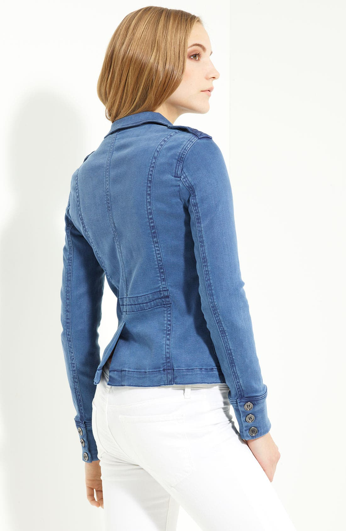 Denim Shirt Jacket,                             Alternate thumbnail 2, color,                             Vintage Lupine Blue