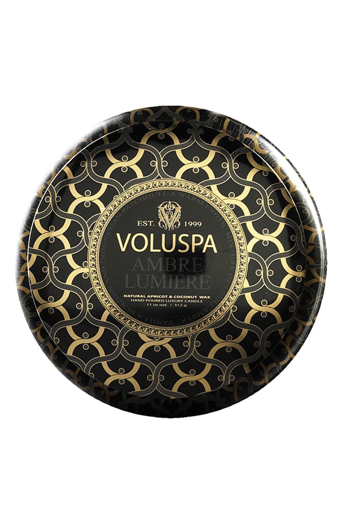 Voluspa 'Maison Noir - Ambre Lumiere' 2-Wick Scented Candle