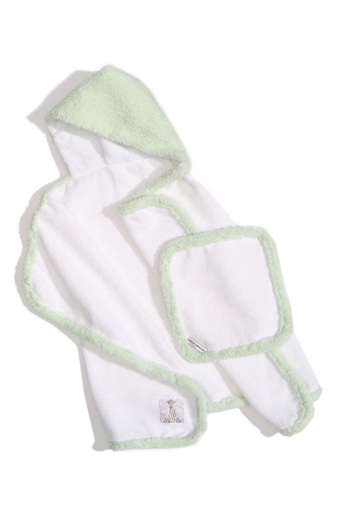 Main Image - Little Giraffe Towel & Washcloth Set (Infant & Toddler)
