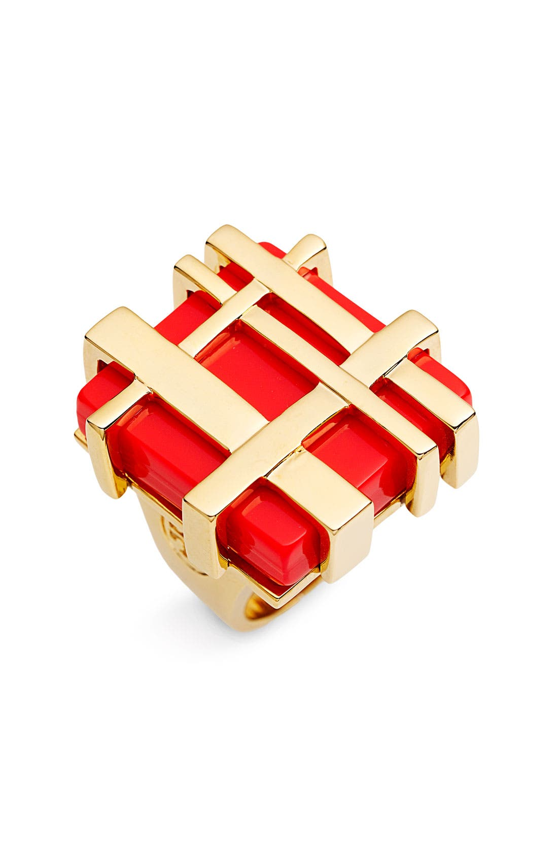 Main Image - Tory Burch Gingham Cocktail Ring