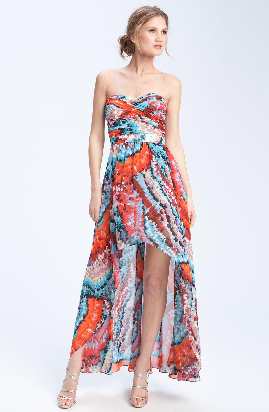 Main Image - Aidan Mattox Strapless Chiffon dress