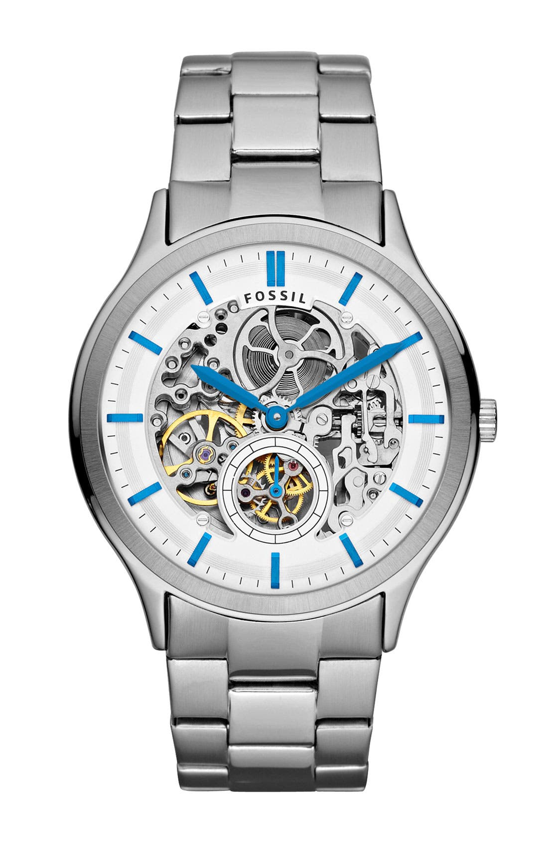 Alternate Image 1 Selected - Fossil 'Ansel' Automatic Bracelet Watch