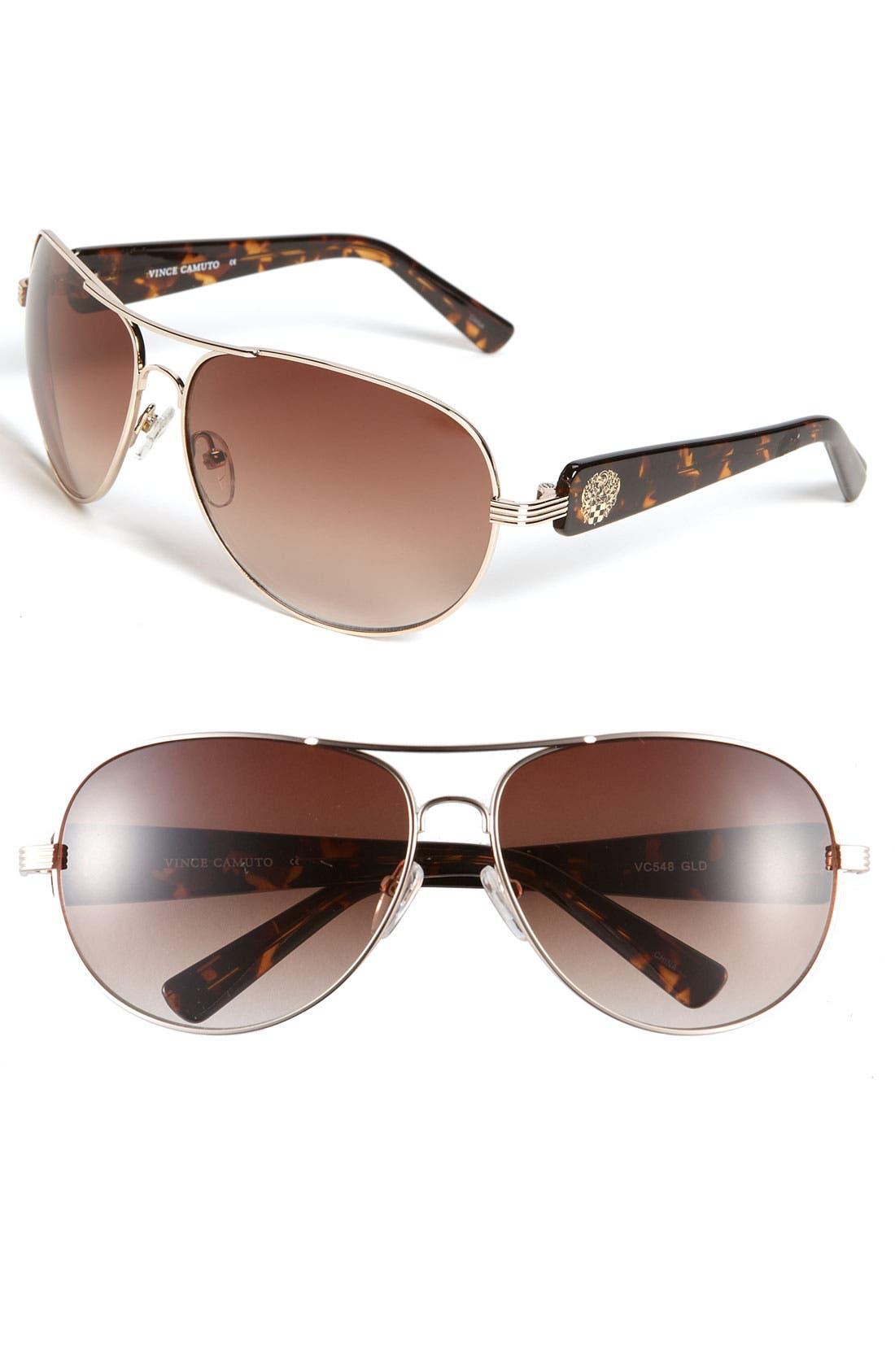 Alternate Image 1 Selected - Vince Camuto Metal Aviator Sunglasses
