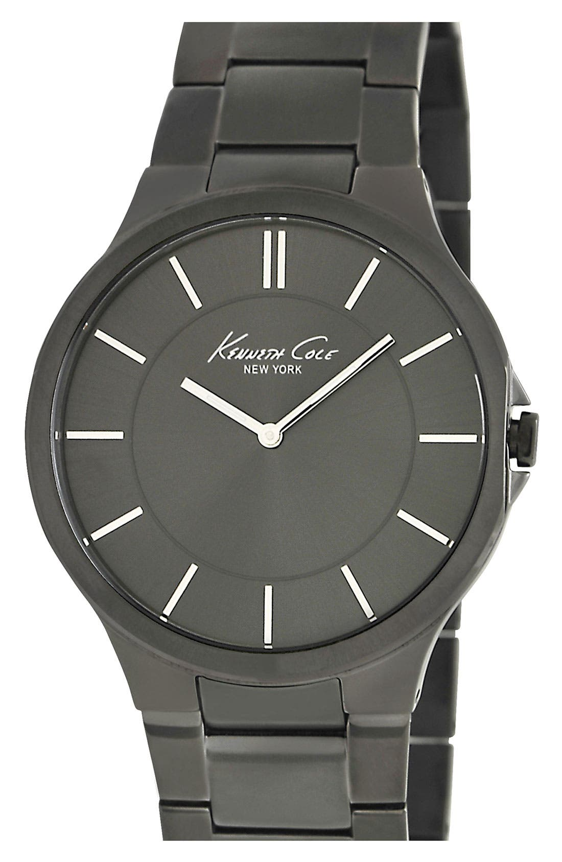 Alternate Image 1 Selected - Kenneth Cole New York Round Dial Bracelet Watch