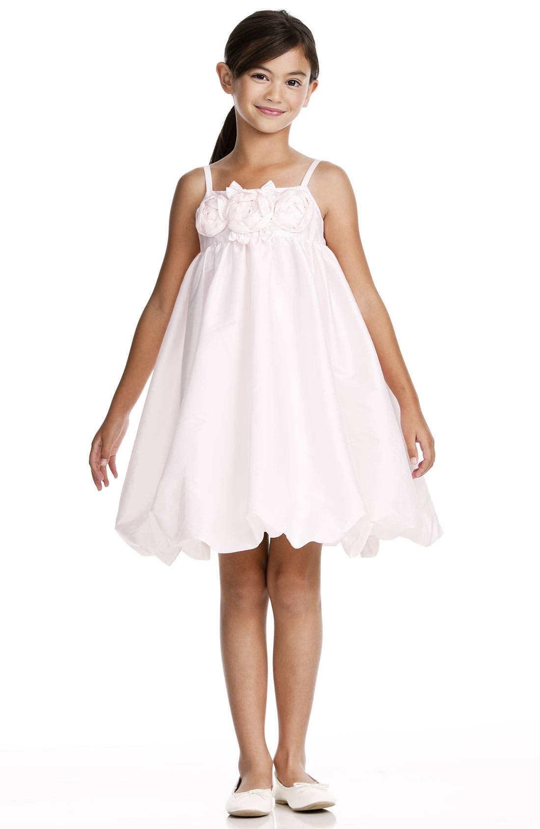 Alternate Image 1 Selected - Us Angels Taffeta Rosette Bubble Dress (Toddler)