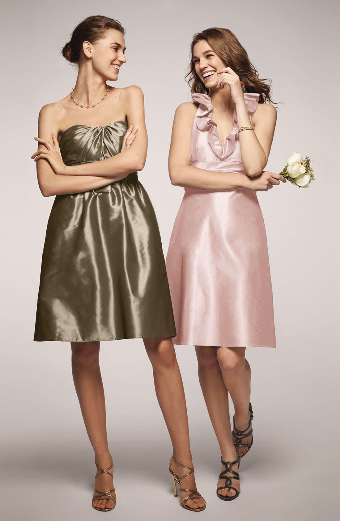 Alternate Image 4  - Amsale Ruffle Taffeta Halter Dress