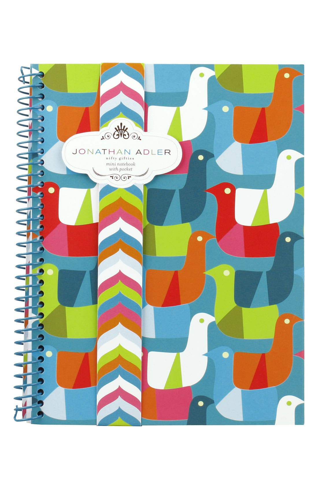 Alternate Image 1 Selected - Jonathan Adler 'Birds Cross Stitch' Mini Notebook