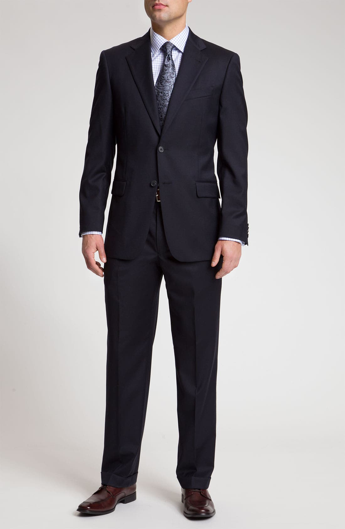 Alternate Image 2  - Joseph Abboud 'Signature Silver' Navy Wool Suit