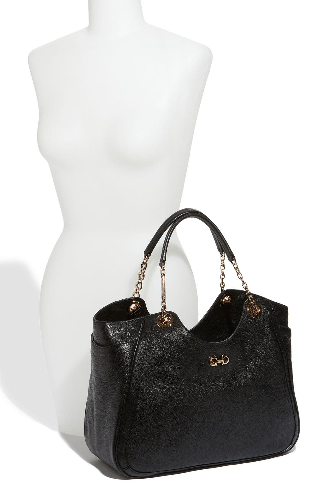 Alternate Image 2  - Salvatore Ferragamo 'Betulla Chain' Leather Shopper