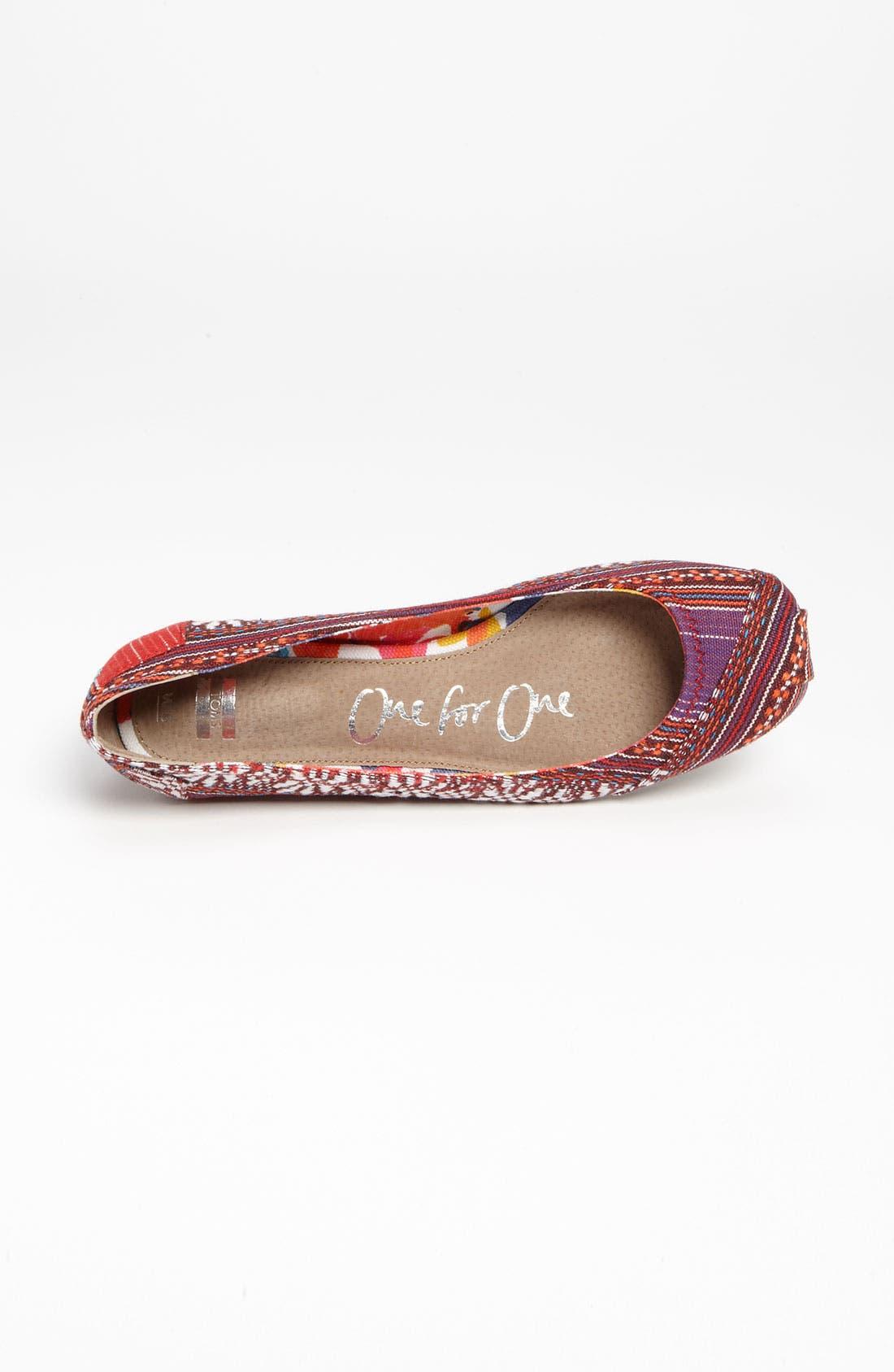 Alternate Image 3  - TOMS 'Lina' Ballet Flat