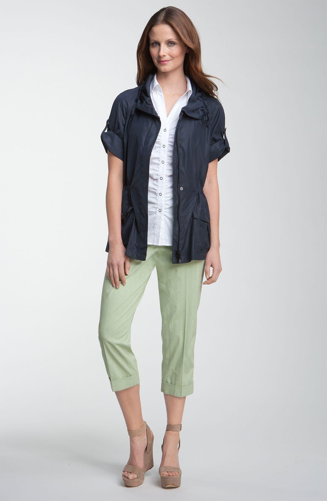Alternate Image 4  - Lafayette 148 New York 'Static Stripe' Cuffed Crop Pants