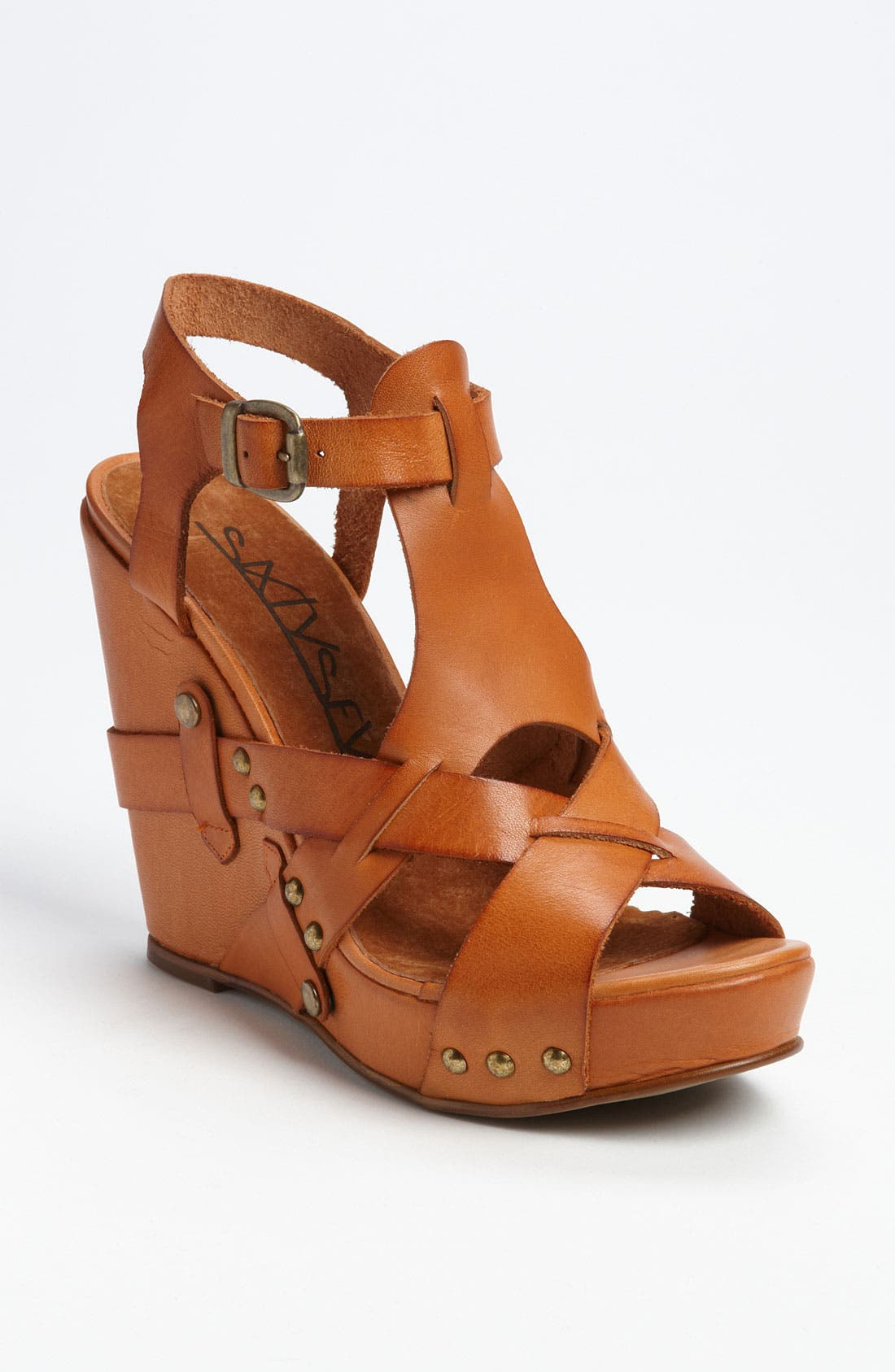 Alternate Image 1 Selected - SIXTYSEVEN '72019' T-Strap Wedge Sandal