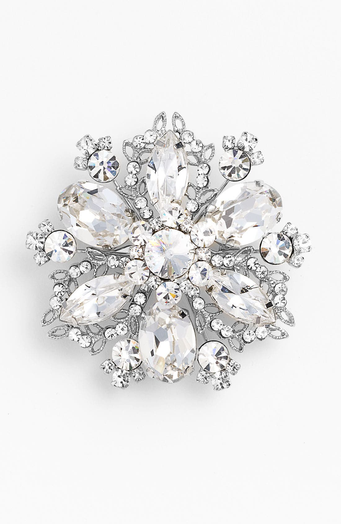 Main Image - Nina 'Treasure Floral' Crystal Brooch