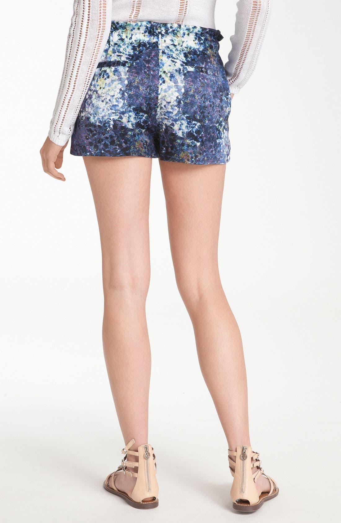 Alternate Image 2  - Edun Print Silk Drawstring Shorts