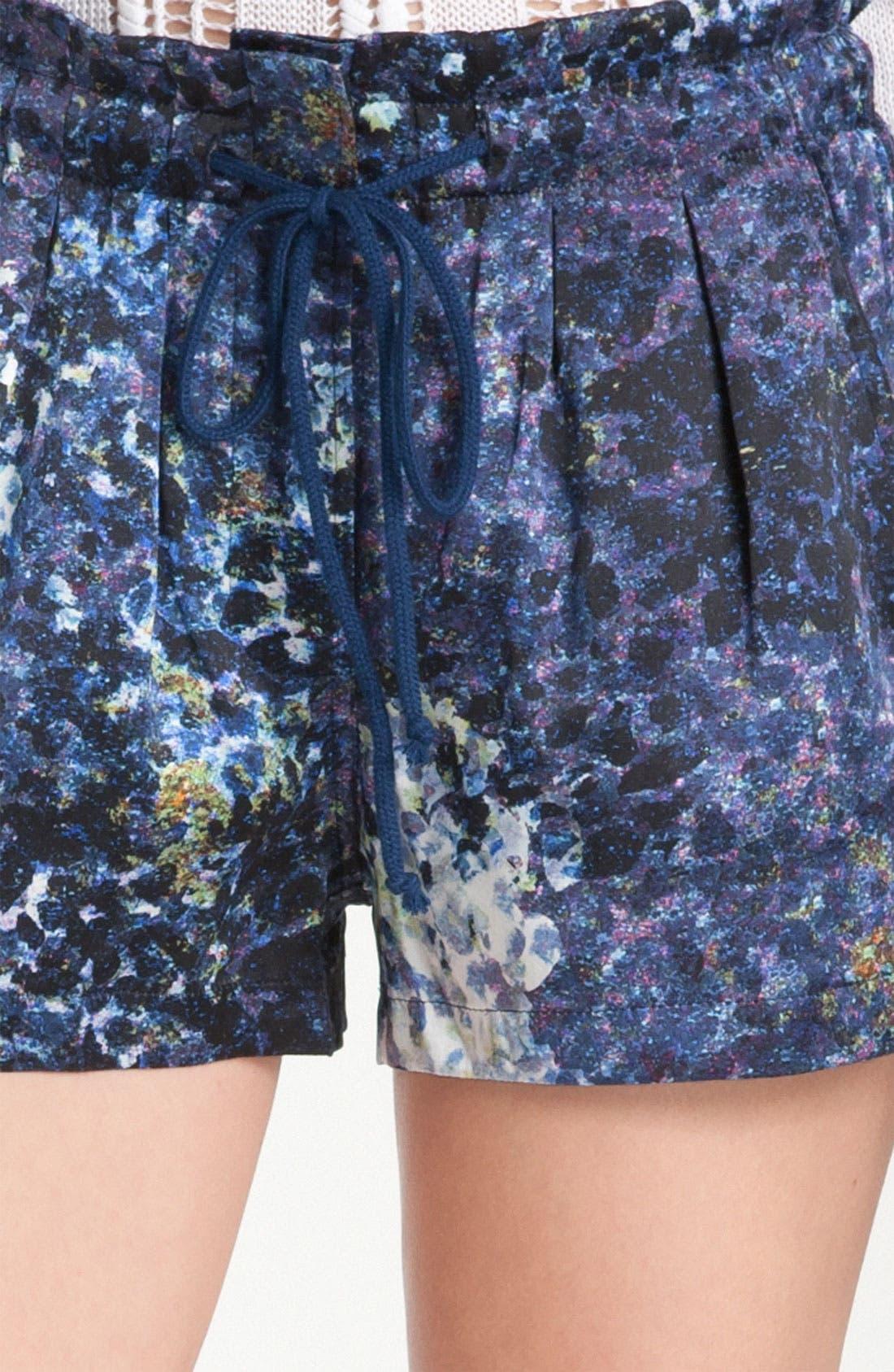 Alternate Image 3  - Edun Print Silk Drawstring Shorts