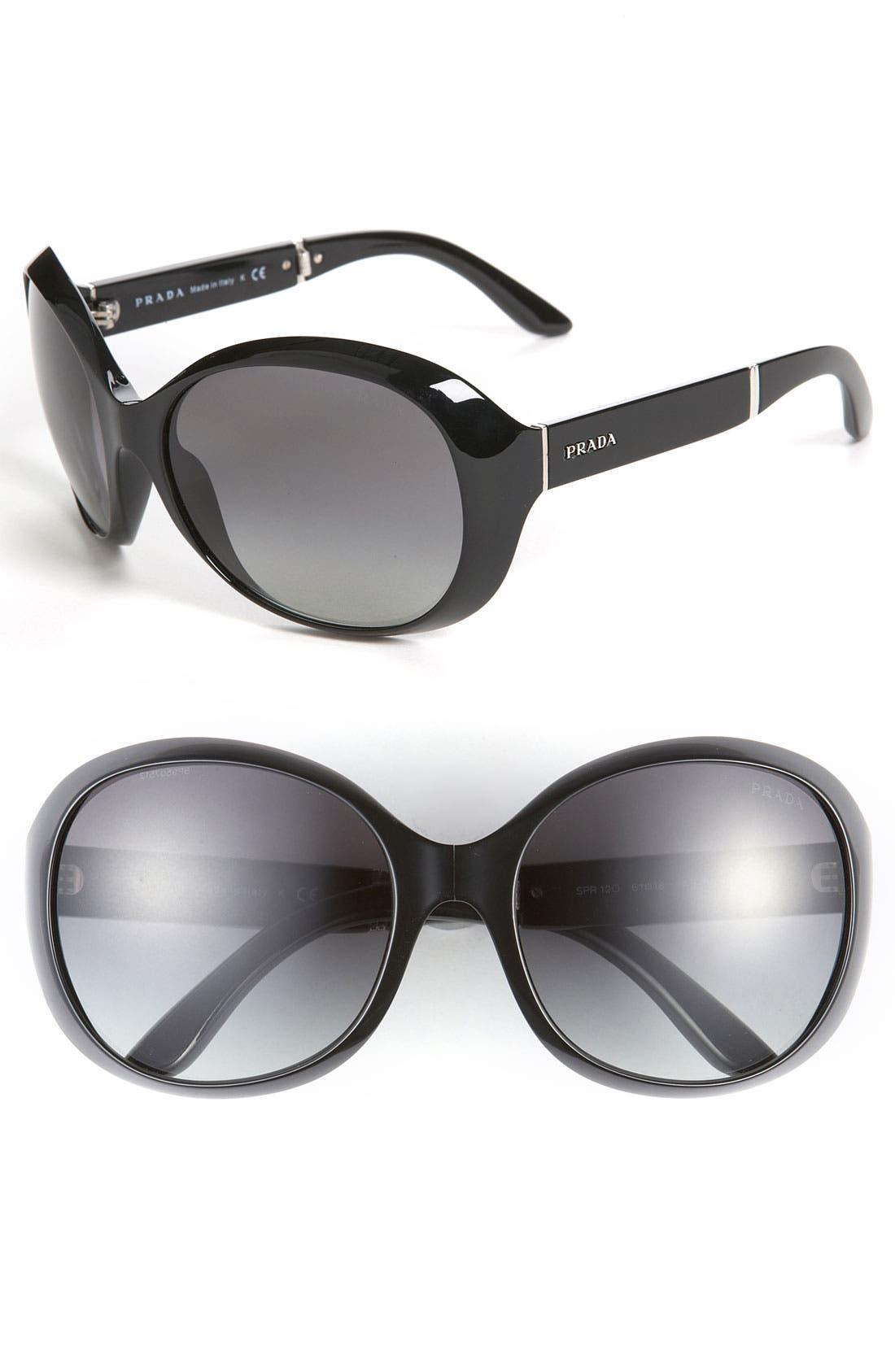 Main Image - Prada Oversized Sunglasses