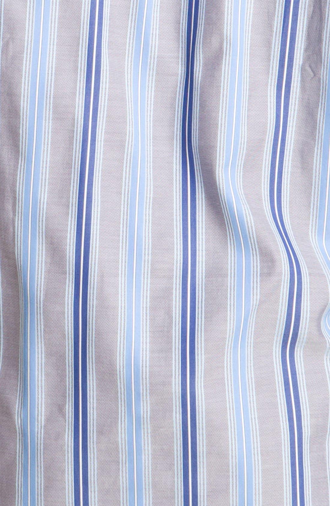 Alternate Image 3  - Thomas Dean Stripe Sport Shirt