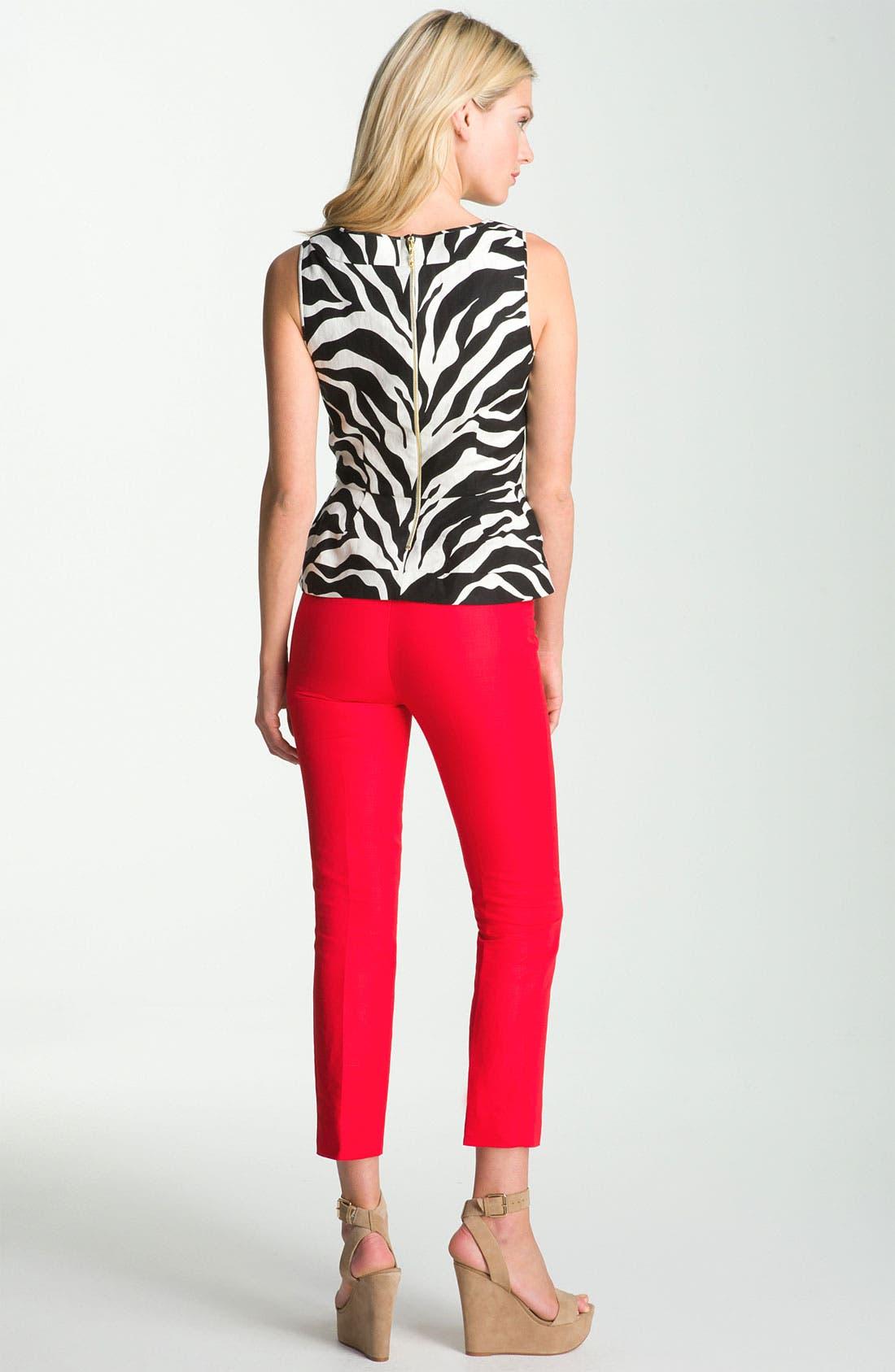 Alternate Image 4  - kate spade new york 'randie' zebra print linen top