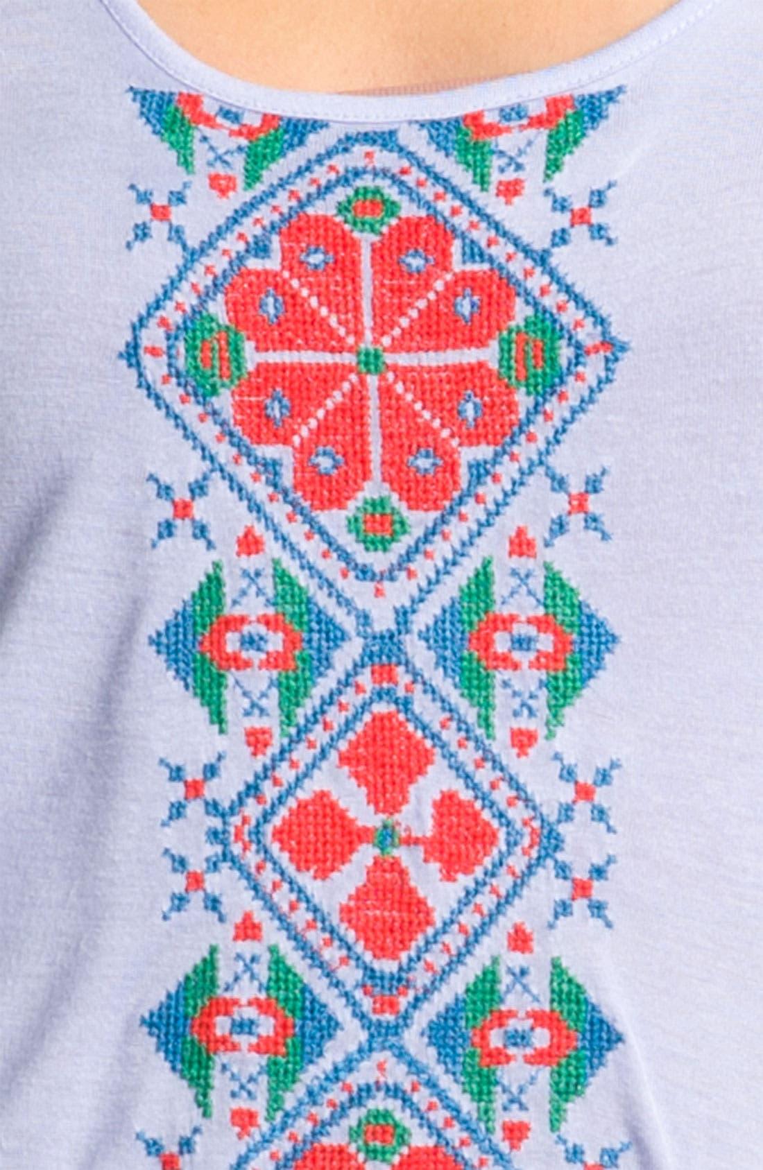 Alternate Image 3  - Rubbish® Embroidered Tank (Juniors)