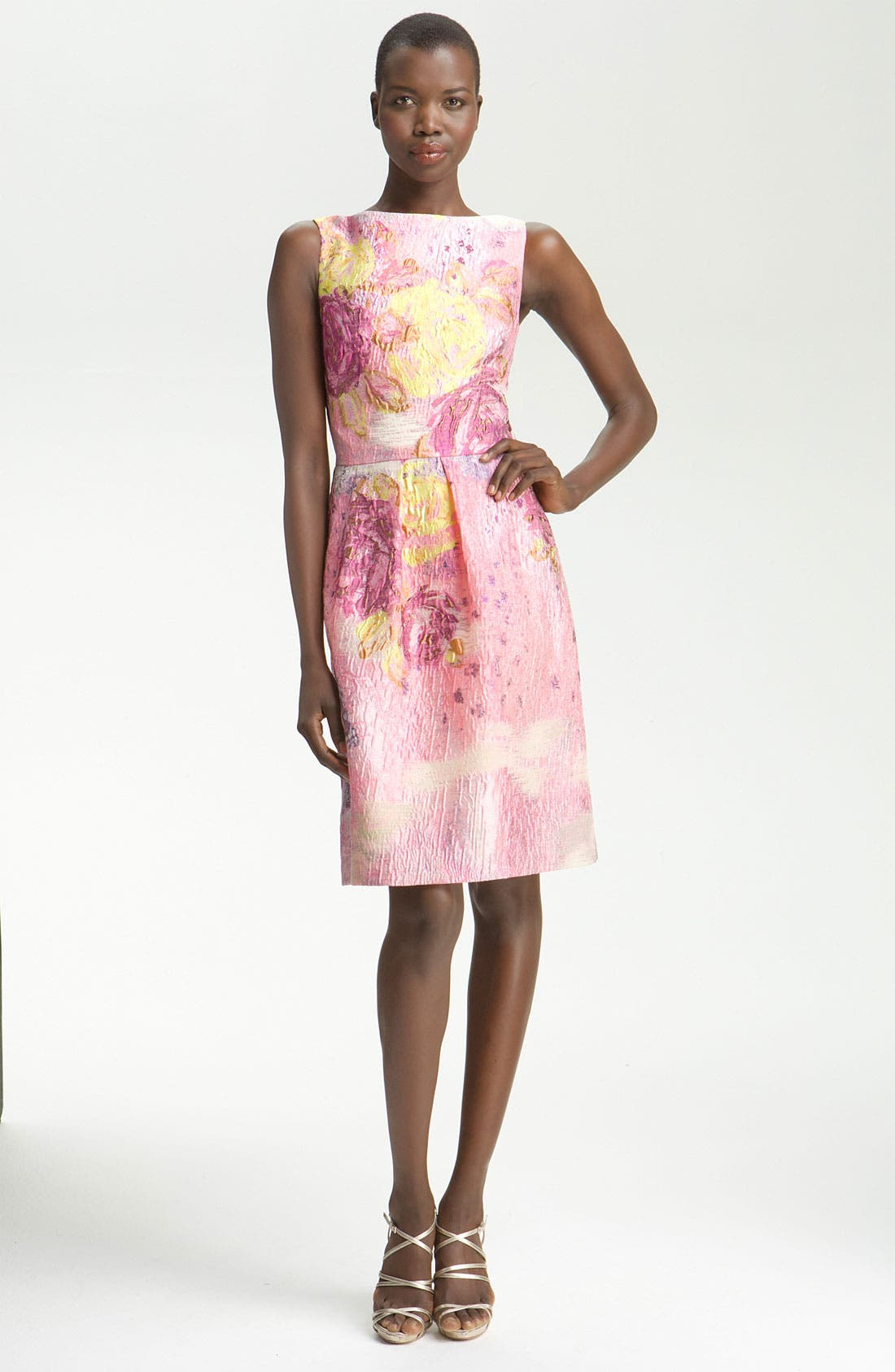 Main Image - Lela Rose Jacquard Sheath Dress