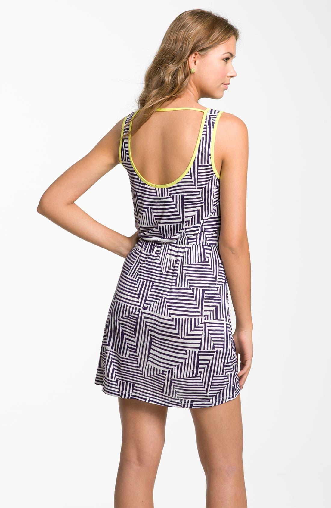Alternate Image 2  - Mimi Chica Print Dress (Juniors)