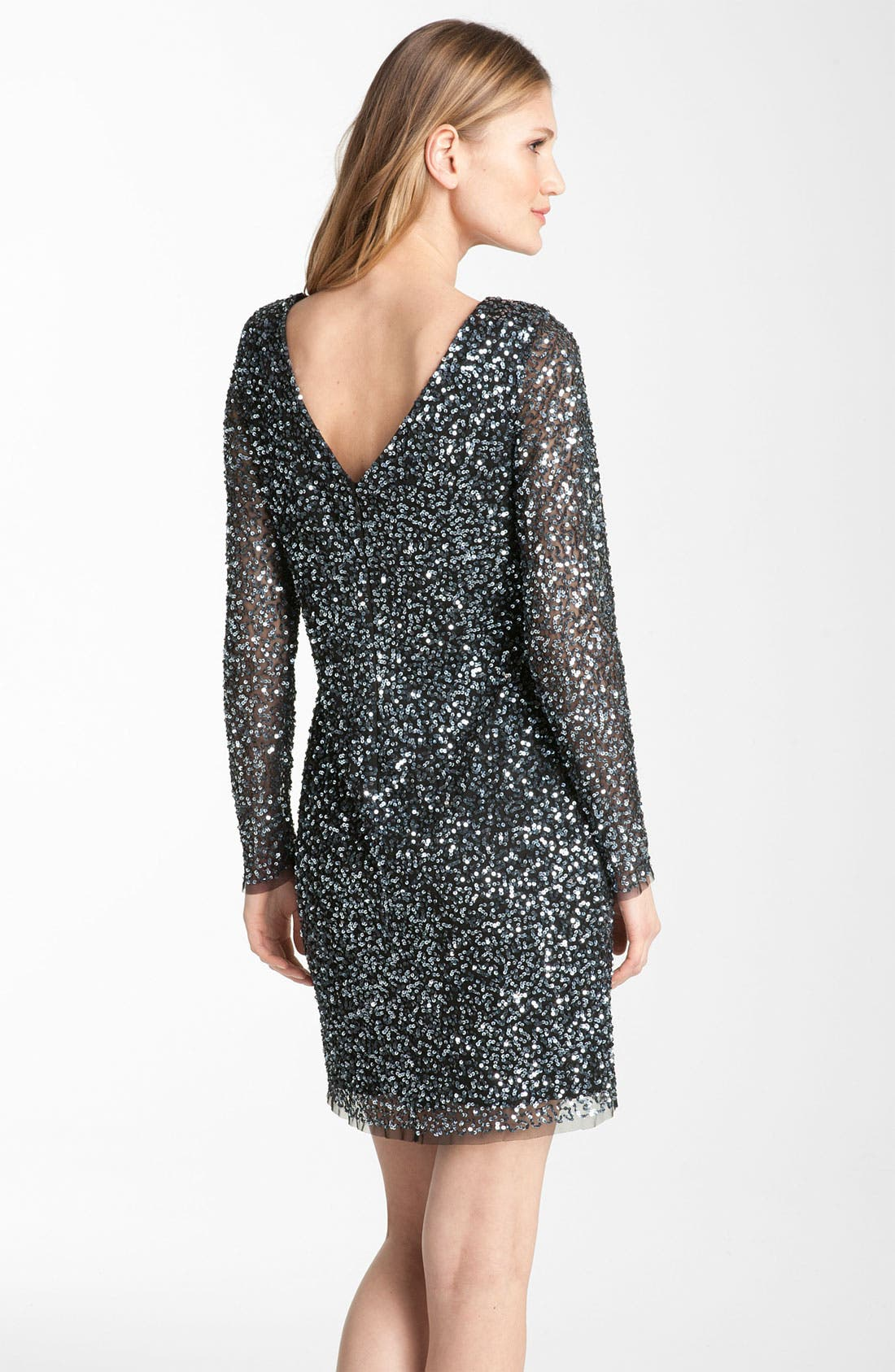 Alternate Image 2  - Adrianna Papell Sequin Shift Dress