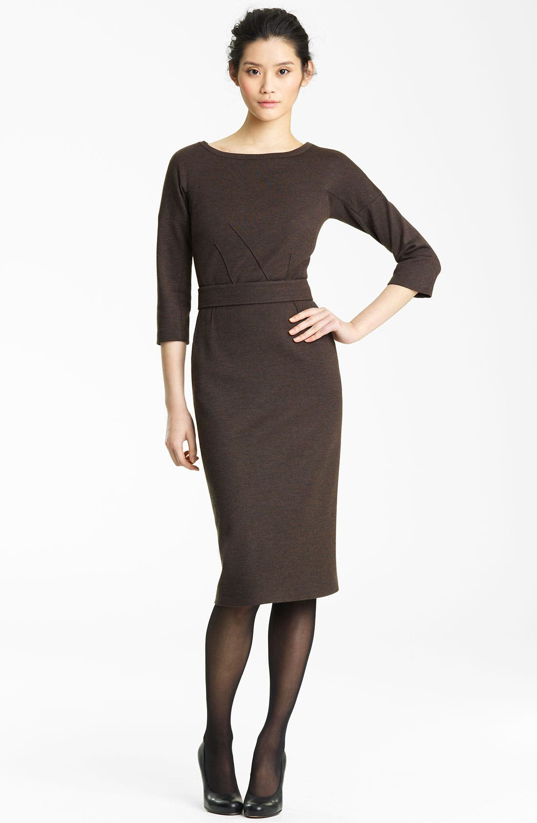 Alternate Image 1 Selected - Lida Baday Double Knit Wool Dress
