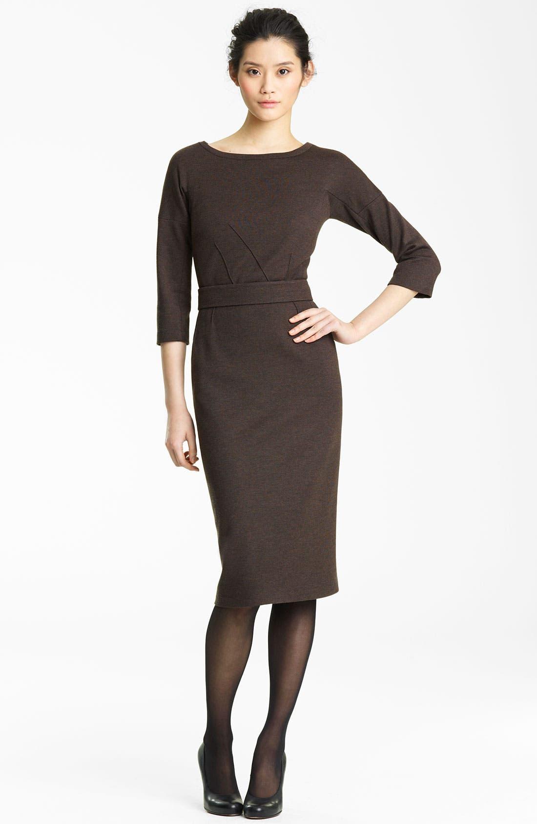 Main Image - Lida Baday Double Knit Wool Dress