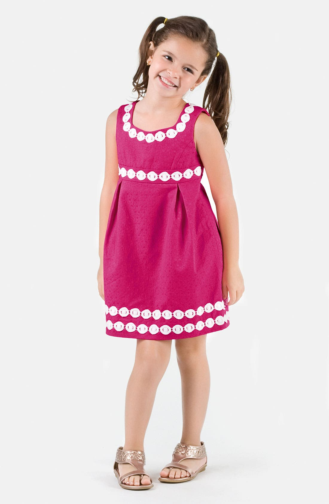 Alternate Image 2  - Lilly Pulitzer® Jacquard Dress (Big Girls)